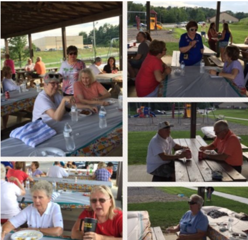 Games, fun, good food, reminiscing, and fellowship were all enjoyed at this year's Anual Church Picnic.  The weather even cooperated and we had a rain free evening.