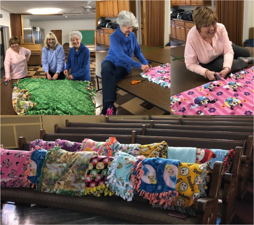 Blanket Making for the Ronald McDonald House. Great fellowship with members and friends to benefit children! See more on our photos on our  Facebook  page.
