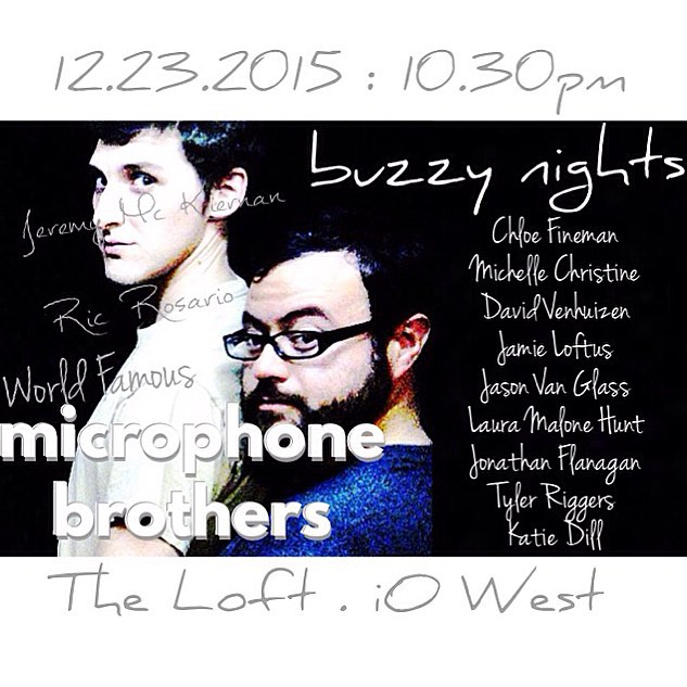 Buzzy Nights hosted by the World Famous Microphone Brothers