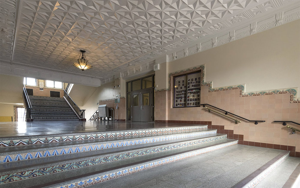 Restored Art Deco lobby