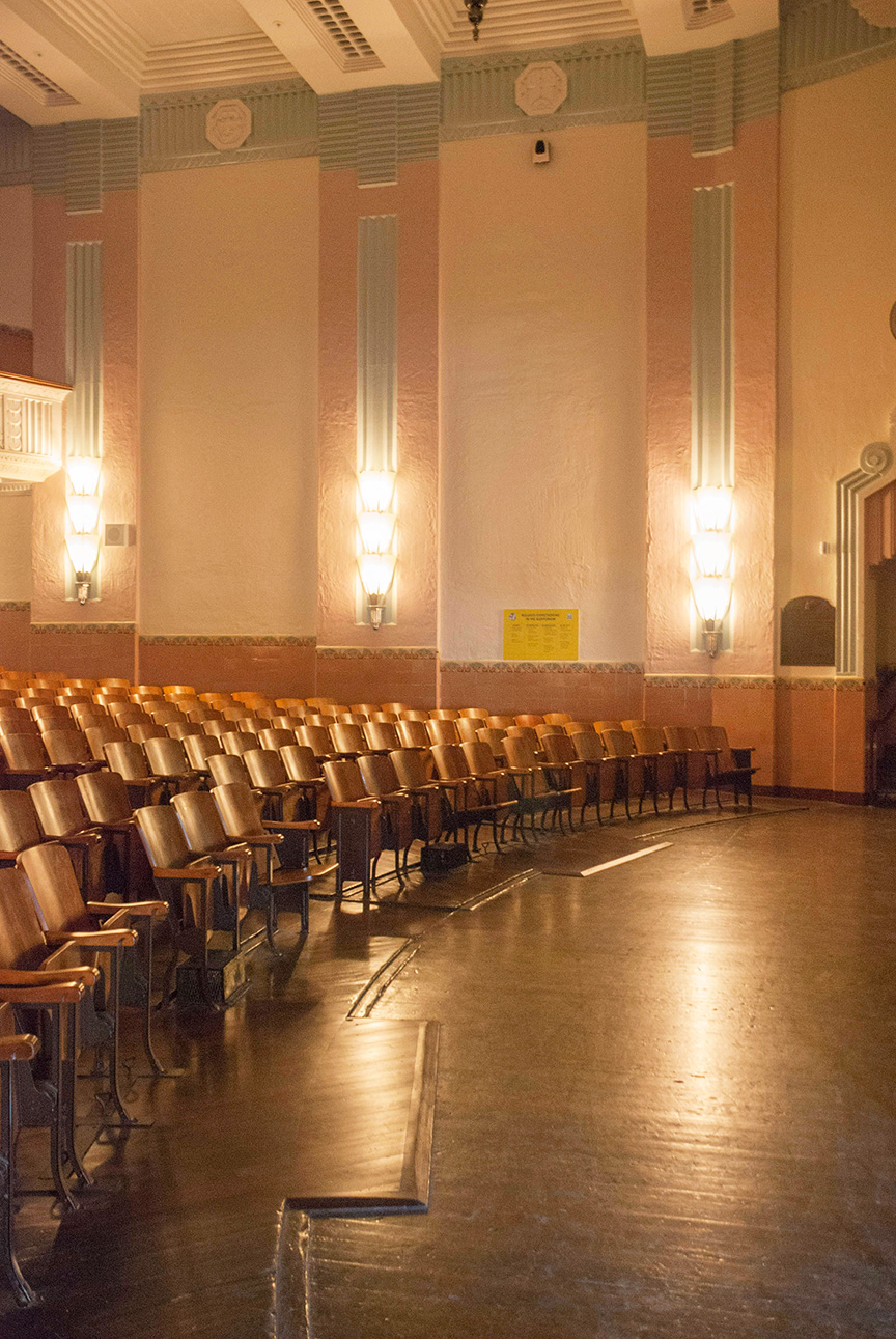 Restored art deco auditorium