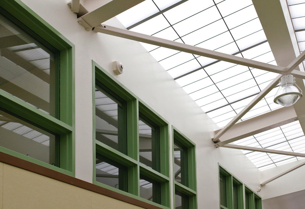 Skylit hallway
