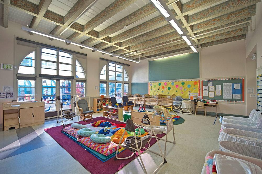 Infant-toddler care room