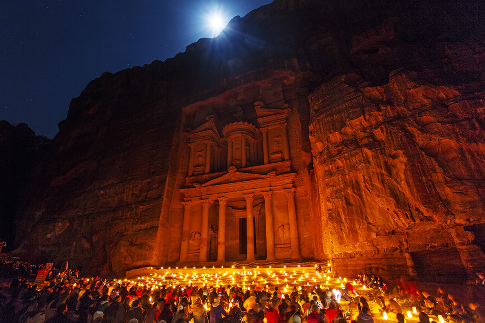 Petra by night. Photo © Bryan Bosovicki