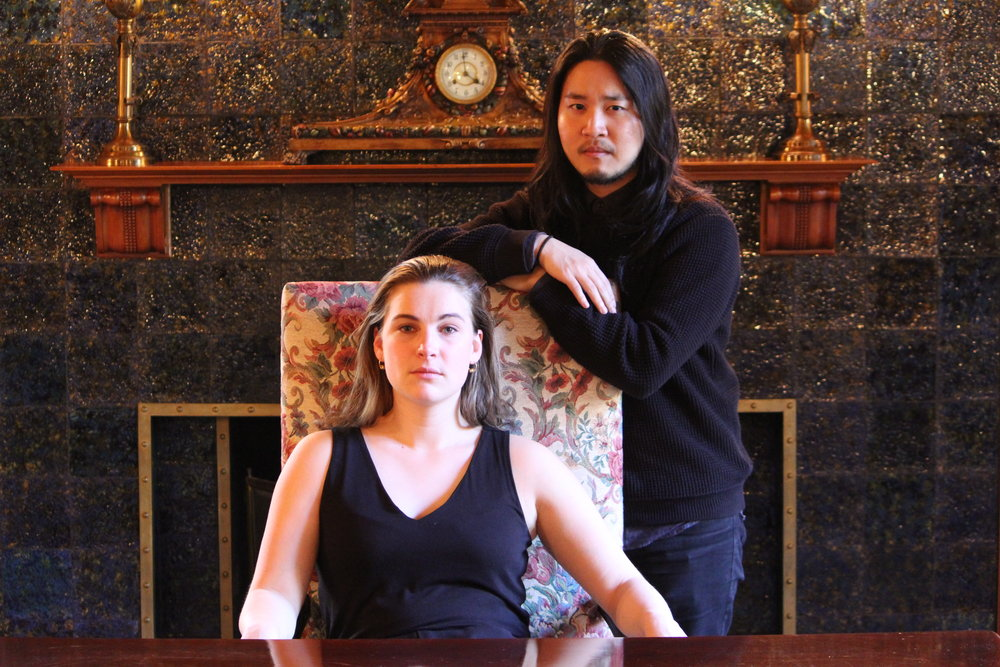 Jocelyn Maher and Kevin Lin as Hamlet/Laertes.