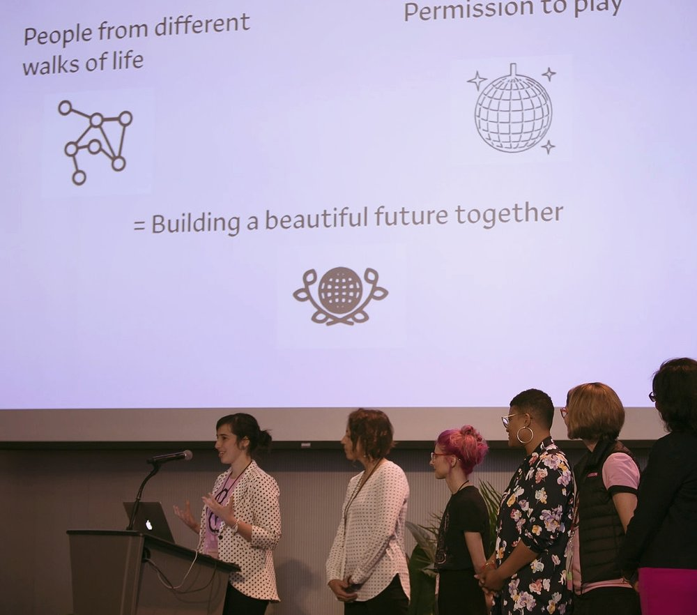 Group keynote, at the  Make the Breast Pump Not Suck Hackathon and Paid Family Leave Policy Summit . April 2018, MIT Media Lab