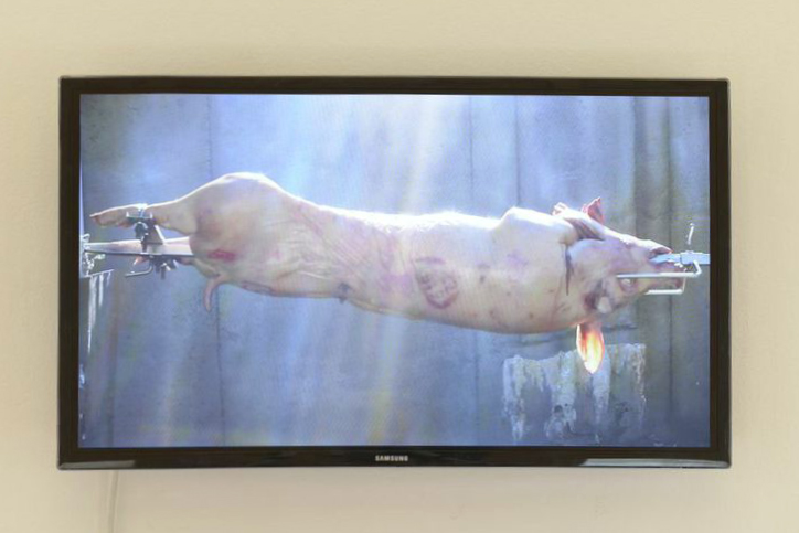 'Smokes &' video install, Gertrude Contemporary 2014. Video still.