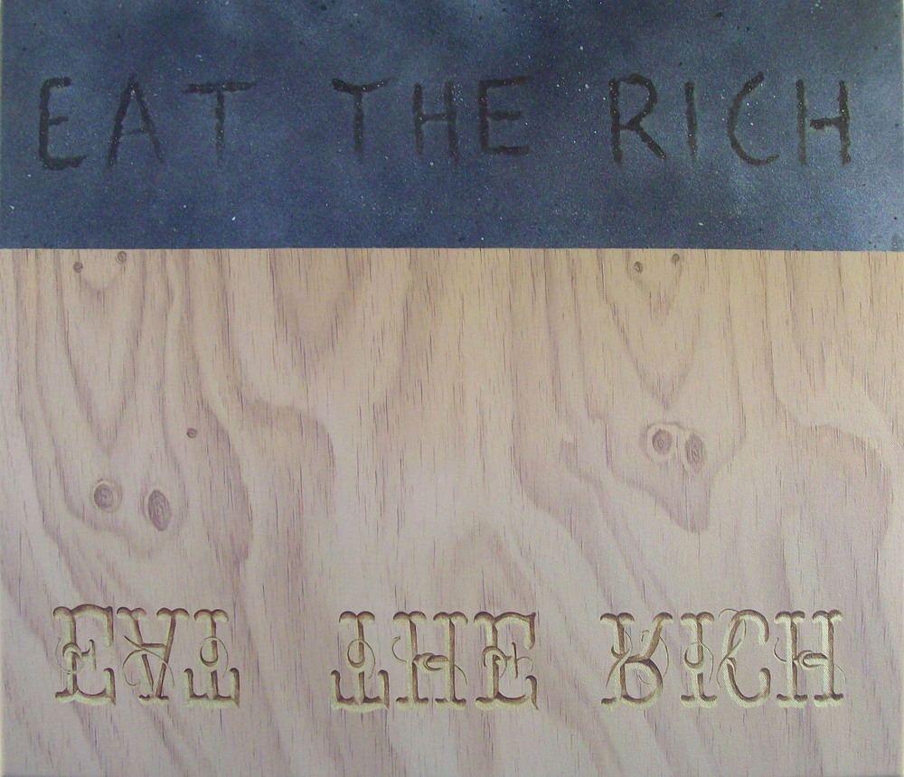 Eat the Rich, Head Under Ground, oil on canvas, 2010