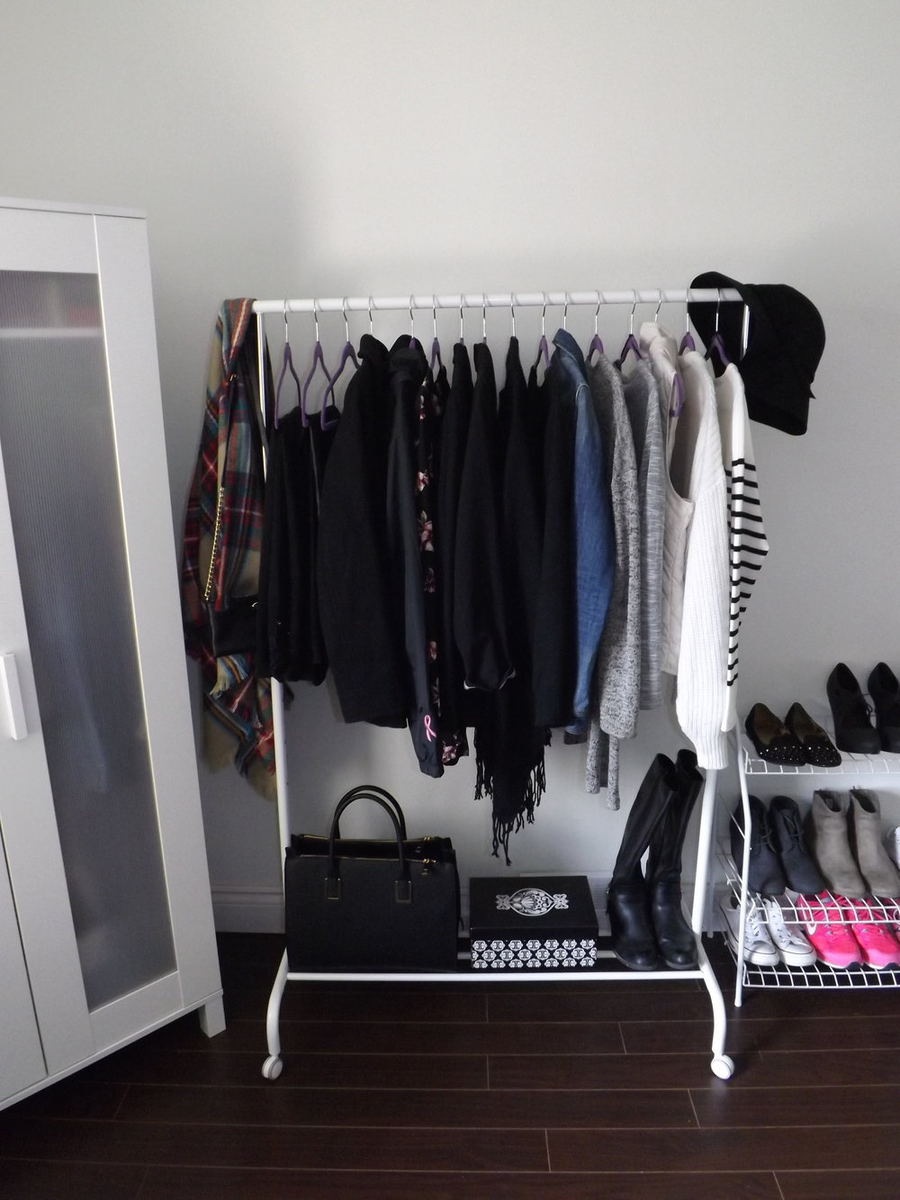Clothing Rack Display | Tall Girl Meets World