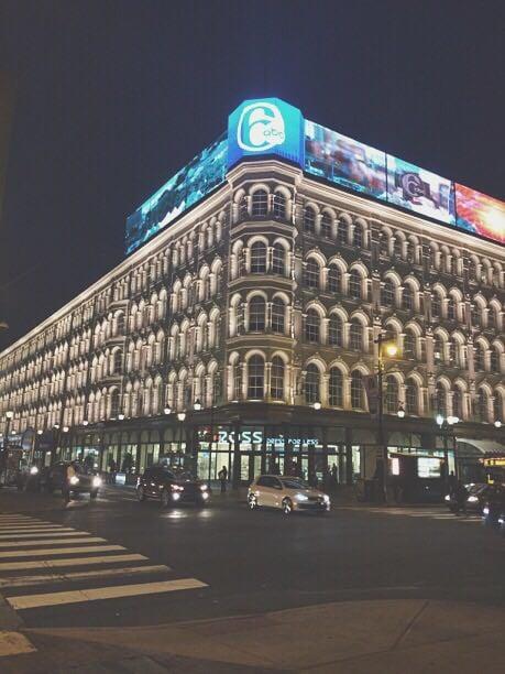 Philadelphia Building at Night | Tall Girl Meets World