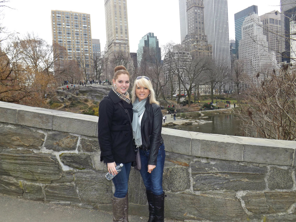 My beautiful mum and I in Central Park.