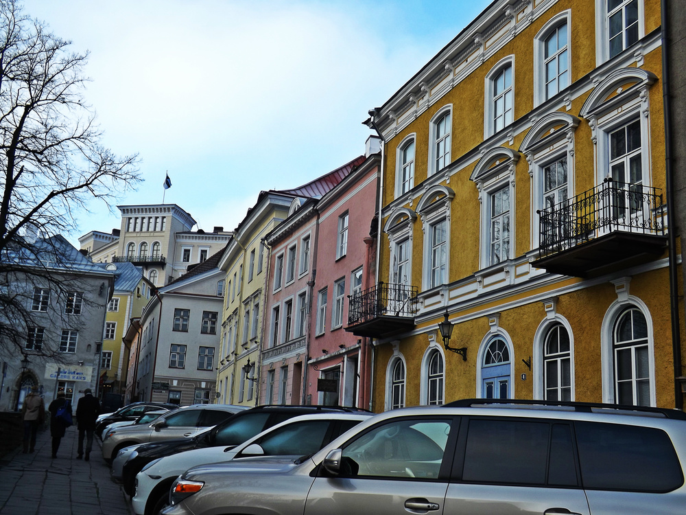 Vibrant Tallinn Buildings | Tall Girl Meets World