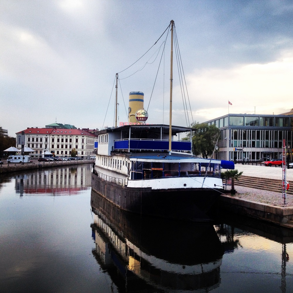 Boat on Gothenburg Canal | Tall Girl Meets World