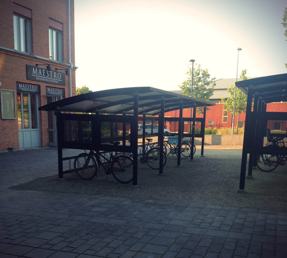 Bike Shelter by Maestro Pizza | Tall Girl Meets World