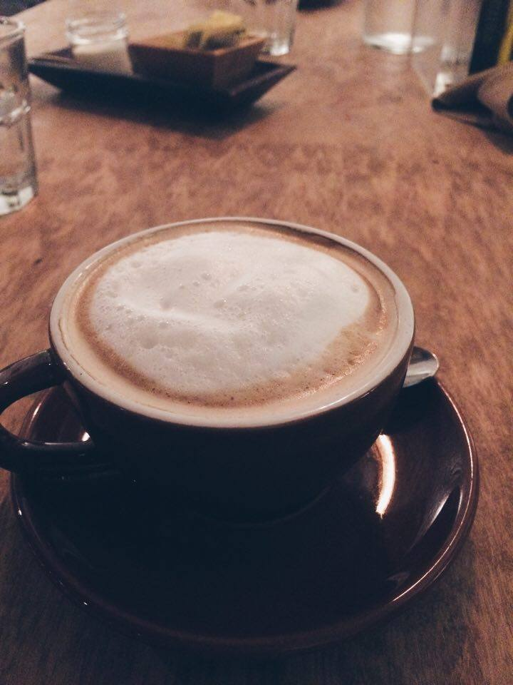 Cibo Cappuccino and Table | Tall Girl Meets World