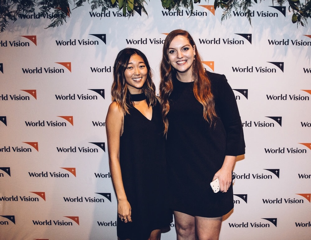 With  Katie , my social media counterpart at World Vision Canada