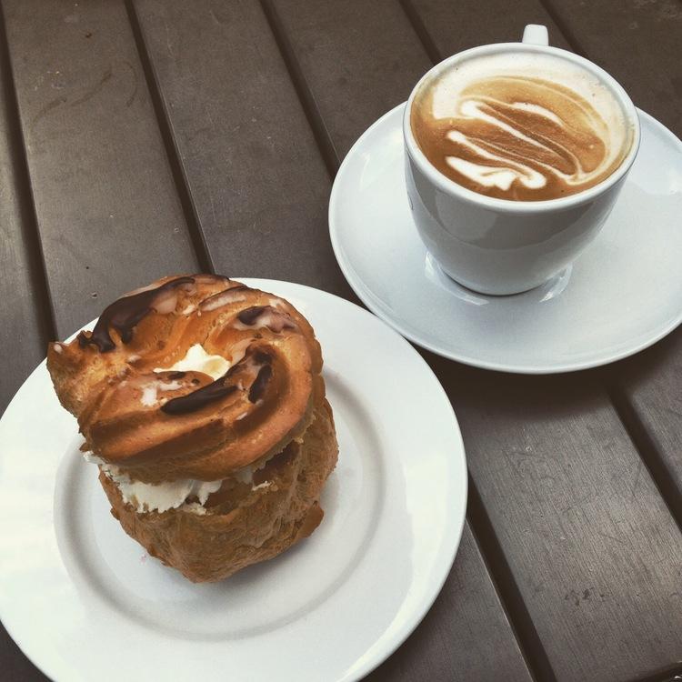 Latte + Baked Treat   Tall Girl Meets World