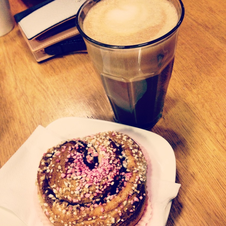 Cinnamon Bun + Latte   Tall Girl Meets World