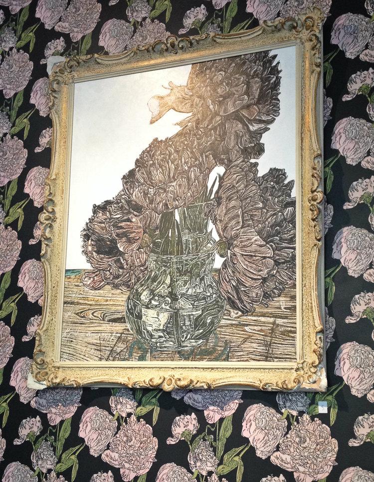 Floral Paintings at Honey Bake Shop   Tall Girl Meets World