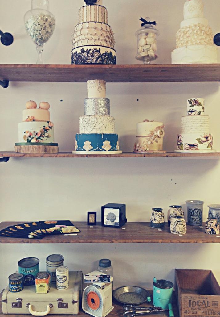 Cake Display at Honey Bake Shop   Tall Girl Meets World