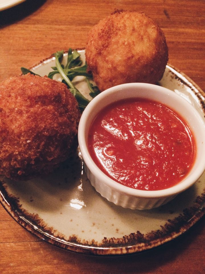Smoked Provolone Arancini at Badali Bar and Cucina | Tall Girl Meets World