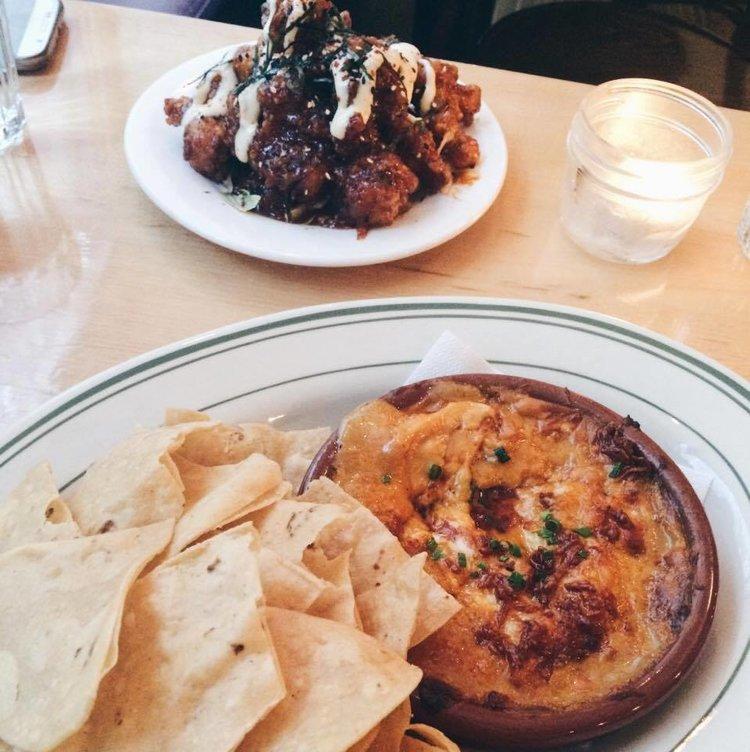 Cheese Dip at The Gabardine | Tall Girl Meets World