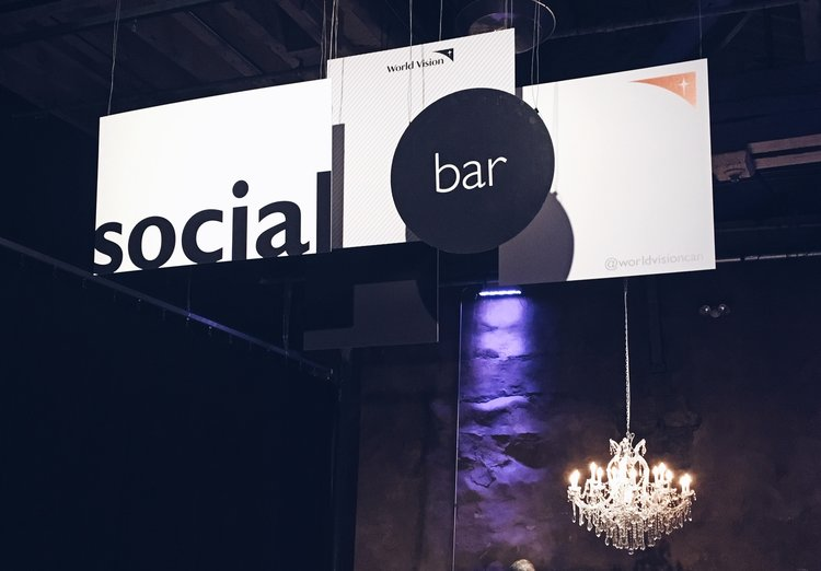 Social Media Bar at the Hunger Free Event | Tall Girl Meets World