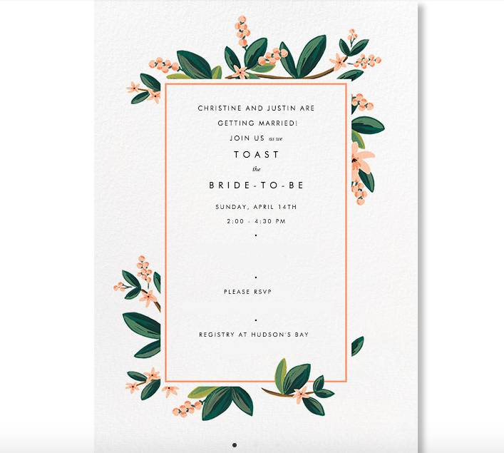 Rifle Paper Co. collection from Paperless Post
