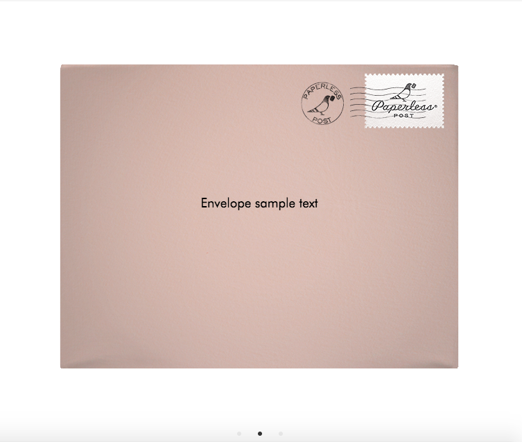 Sample of the Paperless Post envelope