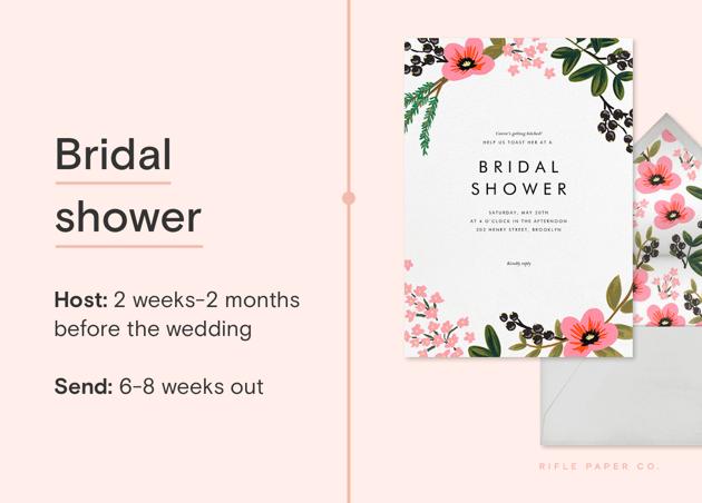 Bridal shower invite guideline from Paperless Post