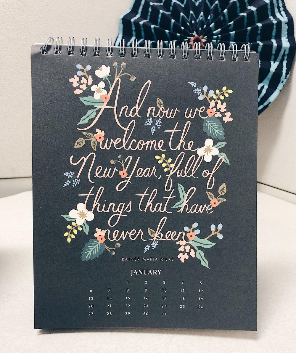 Rifle Paper Co. Desk Calendar | Tall Girl Meets World