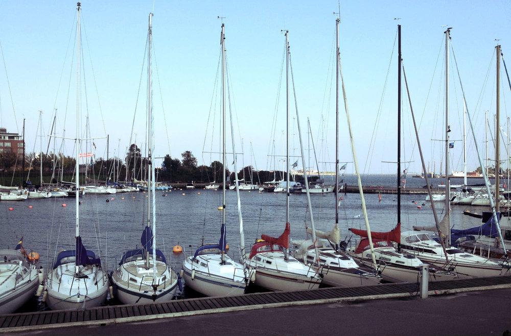 Sailboats Along Copenhagen Harbour   Tall Girl Meets World