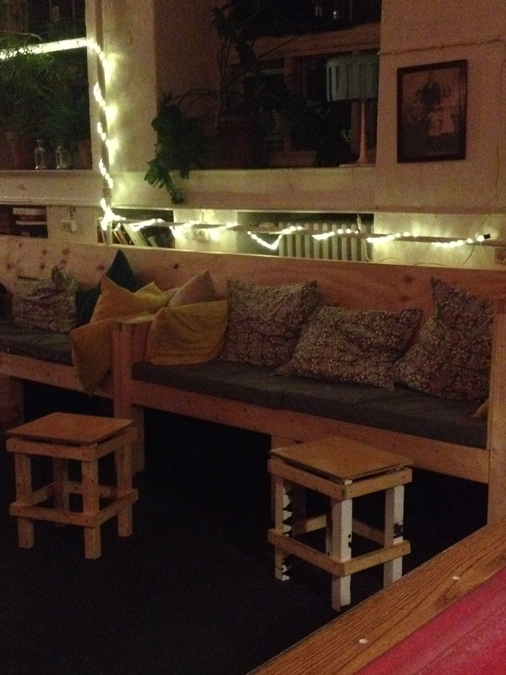 Cozy Couches at Sleep in Heaven Hostel   Tall Girl Meets World