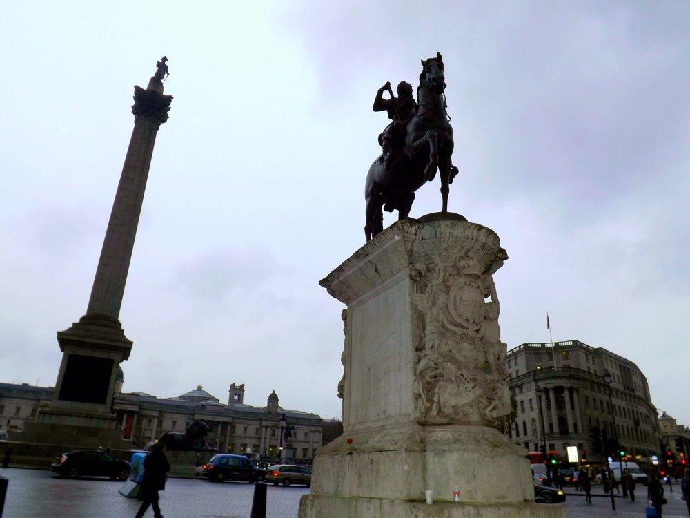 Statues in Trafalgar Square | Tall Girl Meets World