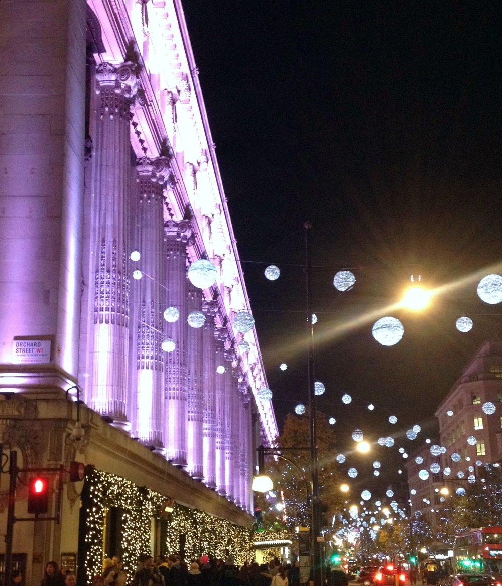 Purple Lights in London | Tall Girl Meets World