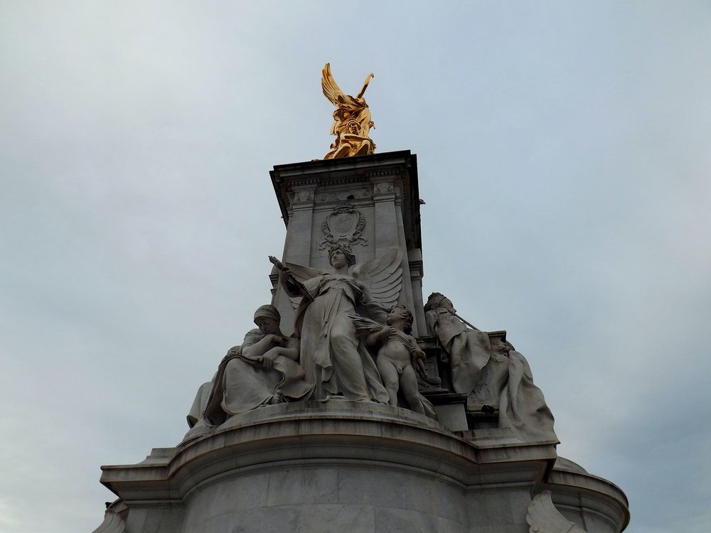 London Fountain Statue from Below | Tall Girl Meets World