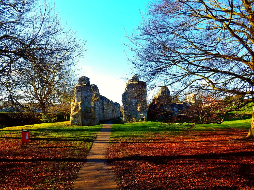 Lewes Ruins in the Fall | Tall Girl Meets World