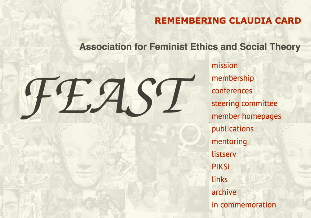 FEAST: Association for Feminist Ethnics & Social Theory | Clearwater, FL | October 5-8, 2017