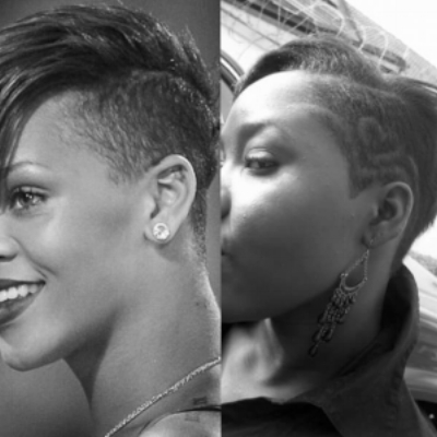 That time my freshman year in college when I got a RiRi inspired haircut, and you couldn't tell me I wasn't the stuff.