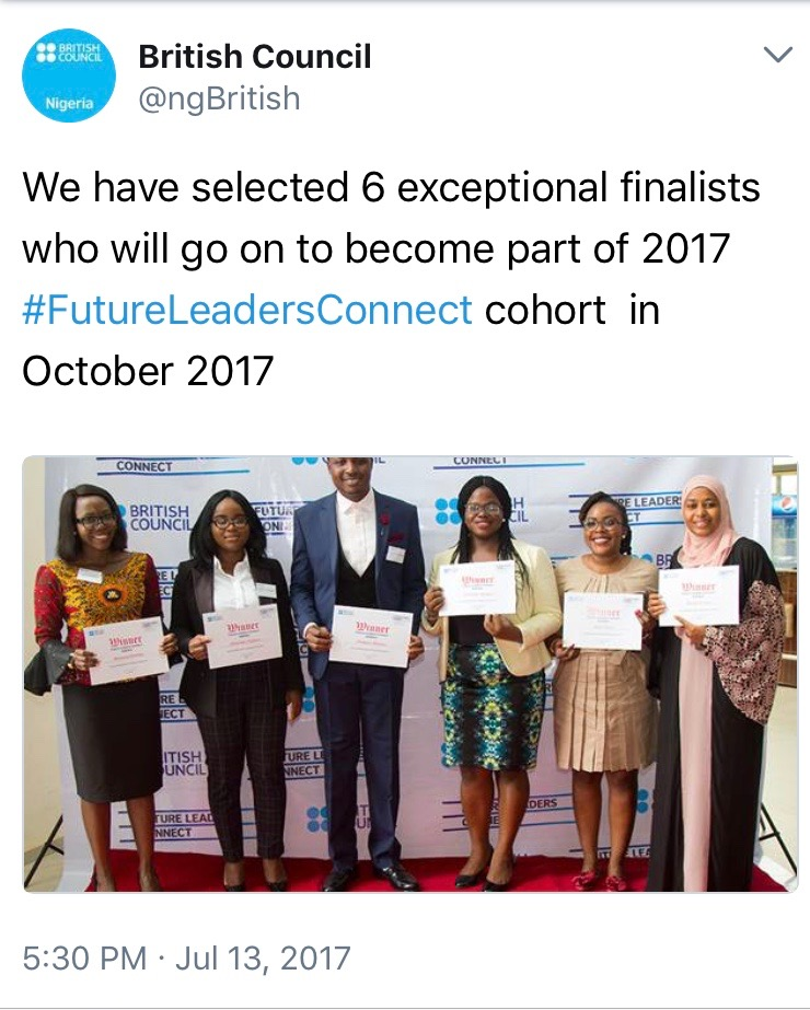 5 of the 6 finalists from Nigeria are women! #GirlPower