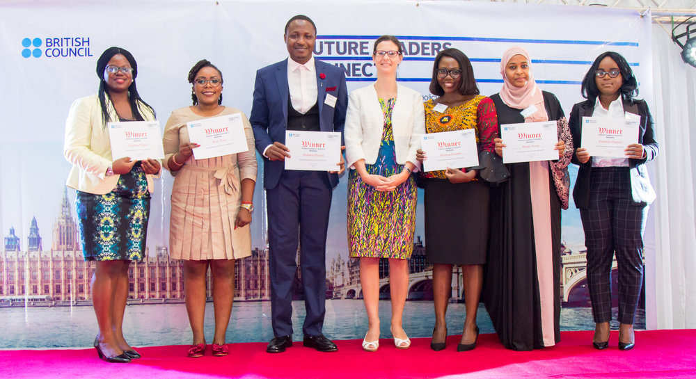 The final 6 with the British Deputy High Commissioner. Photo Credit: @britishng.