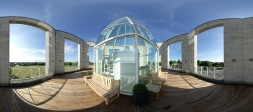 Photo of the Møller Centre's Tower Roof Terrace. Photo Credit: Trip Advisor.