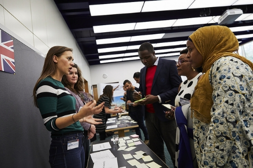 Team Nigeria learning from Team England's artefacts. Photo Credit: British Council.