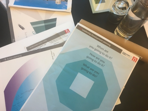 Leadership development planning worksheets.