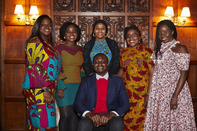 Dressed up for dinner at Cambridge University's oldest college (more on this below). #NaijaNoDeyCarryLast.