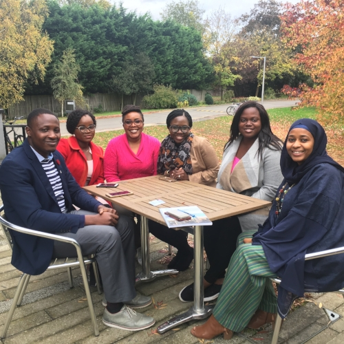 Getting ready to film a video for the British Council's website with #TeamNaija.