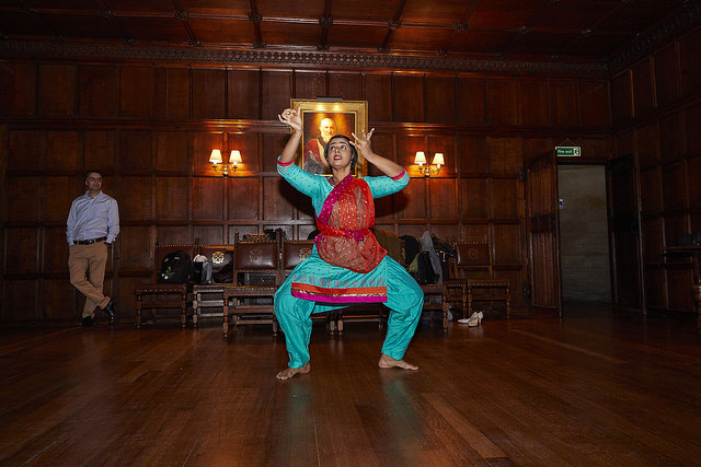Aardra Chandra Mouli, Future Leaders Connect member from India, performing a beautiful dance.