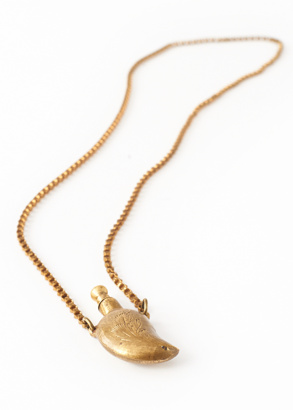 Vintage Flask Necklace