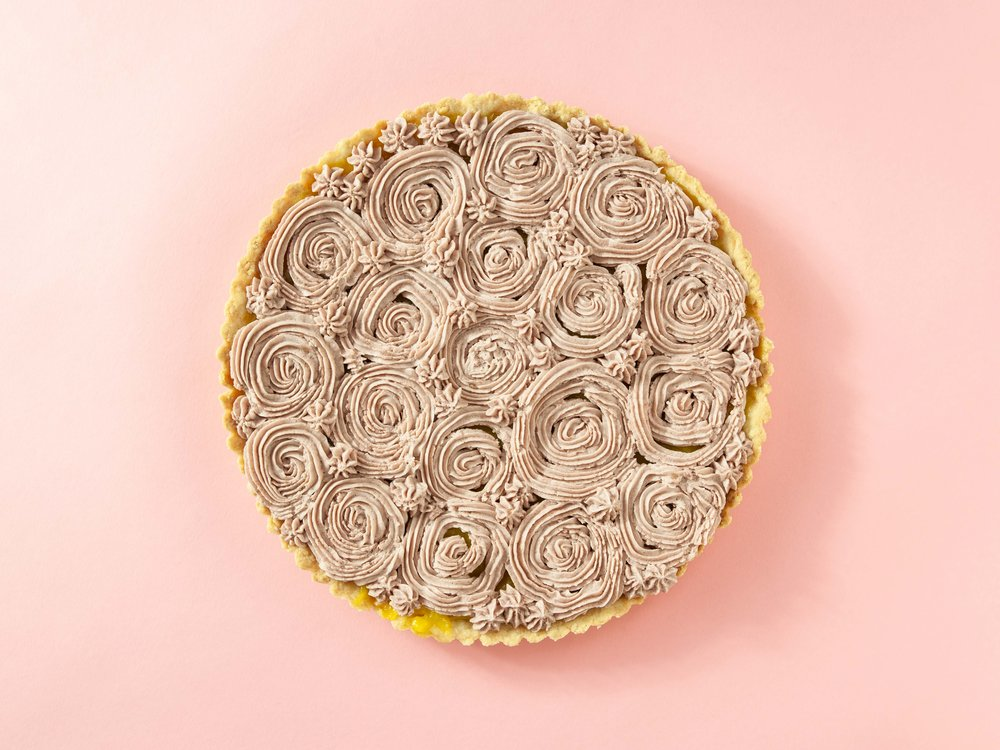 Lemon Tart with Earl Grey and Lavender Icing