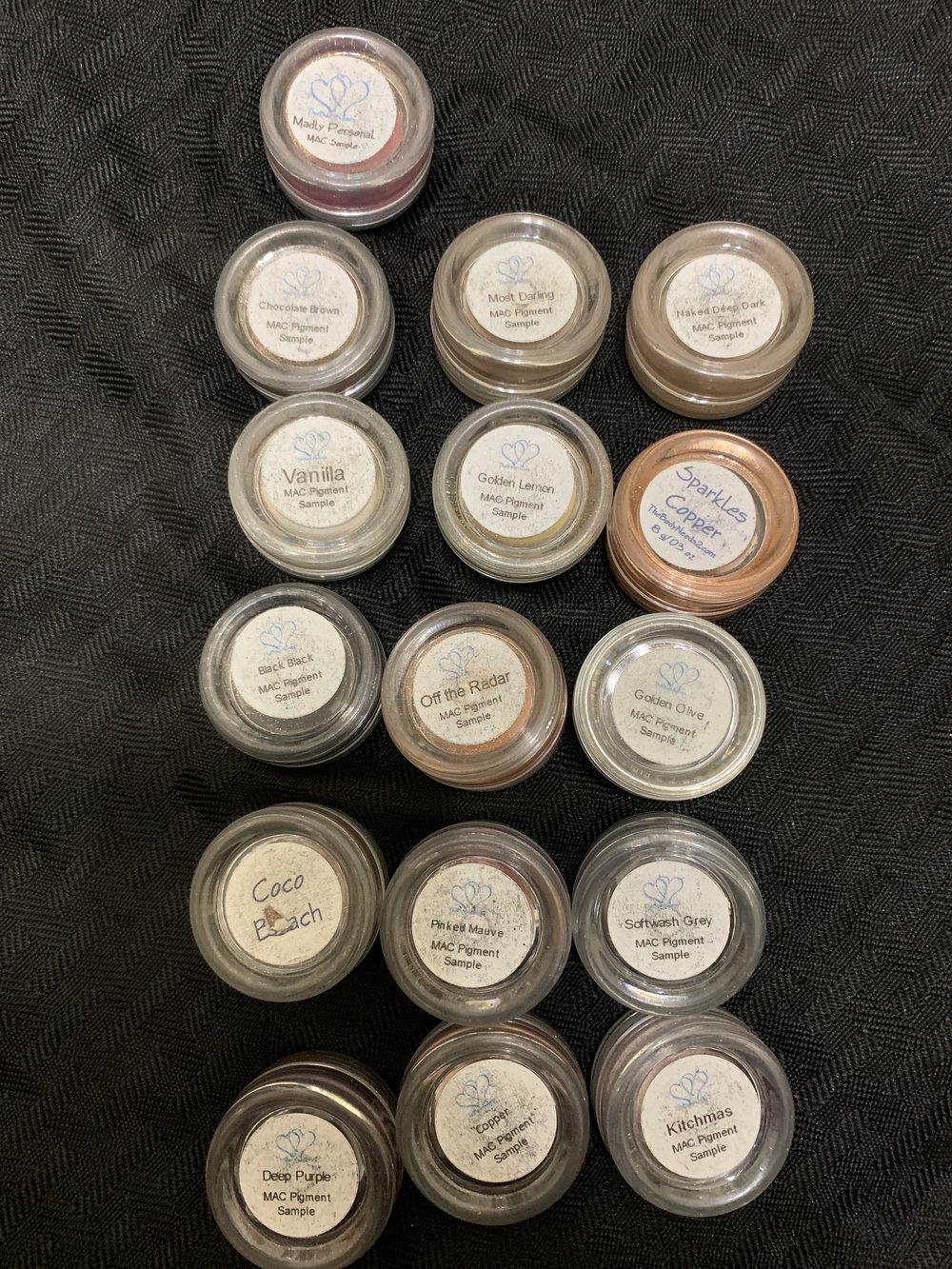 16 3-5 gram MAC loose Pigments-$10